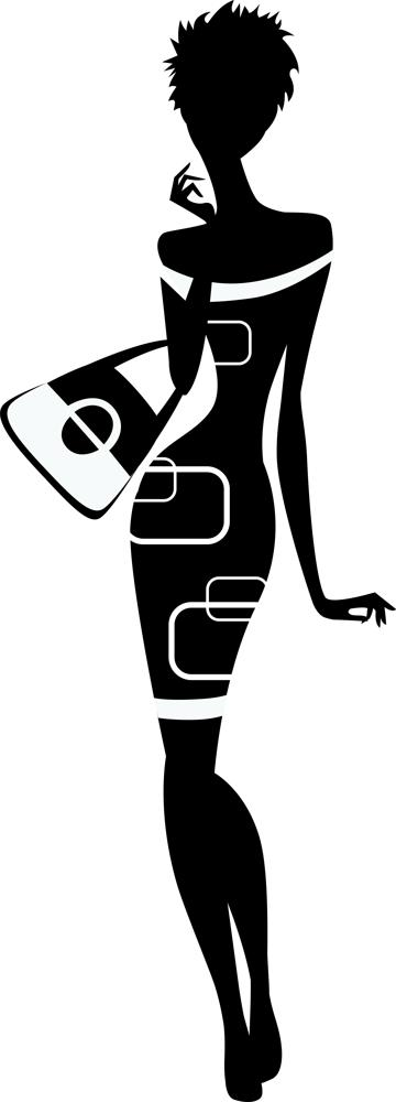 Classy woman silhouette Vector Free Vector