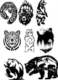 Wildlife Vector Art Free Vector