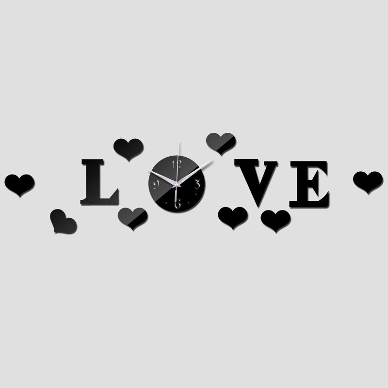 Love Clock dxf File