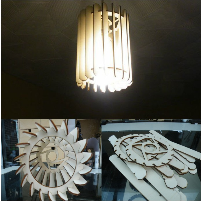 Chandelier Lamp dxf File