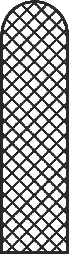 Simple Door Grill Design Vector Free Vector
