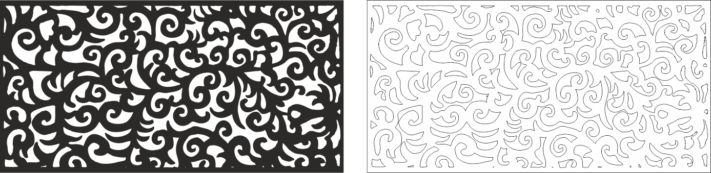 Swirl Floral Vector CDR File