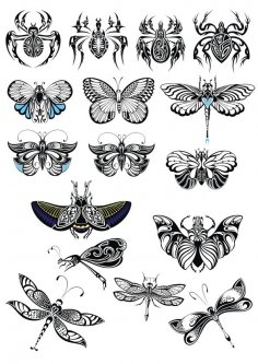 Butterfly Collection Vector Set Free Vector