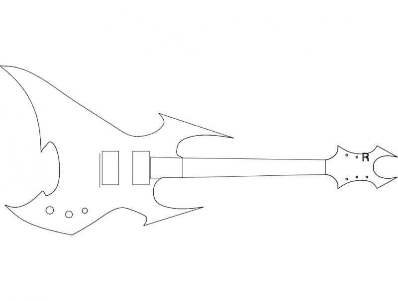 Beast Guitar dxf File