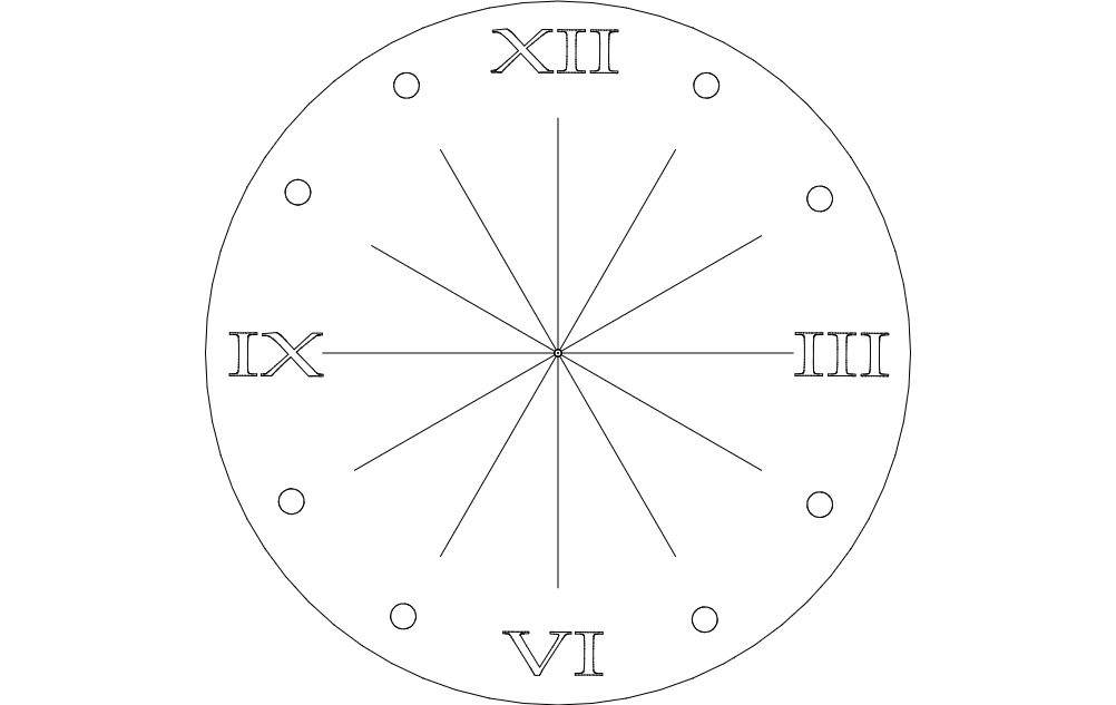 Clock Roman Numeral Dxf File Free Download 3axis Co