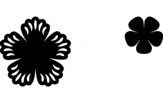 Punched Flower dxf File