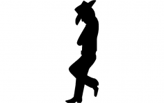 Cowboy Standing dxf File