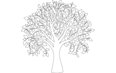 Tree Of Life Full Carve dxf File