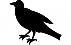 Crow silhouette dxf File