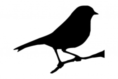 7×6 Bird on Branch dxf File