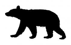 Animal Bear dxf File