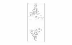 Christmas Napkin Holder dxf File