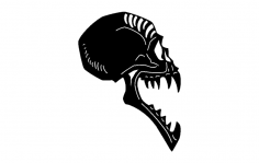 Skull Side View dxf File