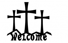 Cross Welcome dxf File