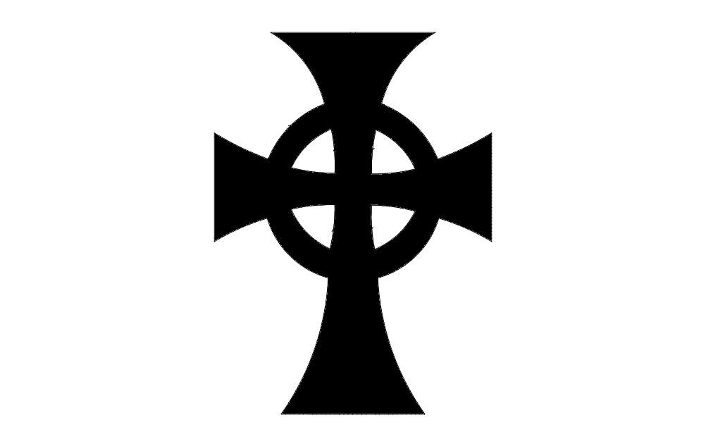 b. Saints Cross dxf File