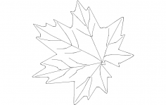 Maple Leaf dxf File