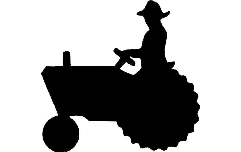 Tractor Silhouette Dxf File Free – Fondos de Pantalla