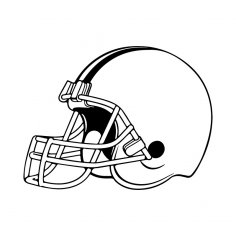 American Football Helmet dxf File