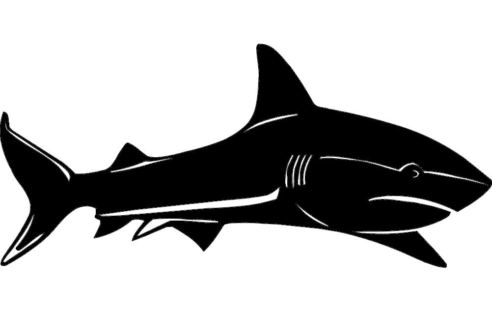 Shark Silhouette dxf File