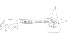 Zombie Hammer dxf File