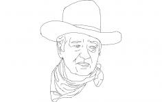 John Wayne  dxf File