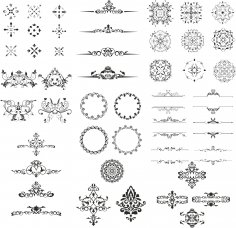 Ornament Design Kit Free Vector