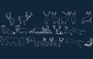 Forest Images Art Disk animals.dxf