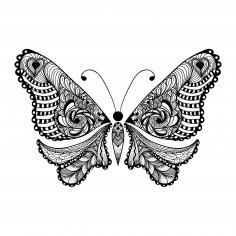 Zentangle Butterfly Free Vector