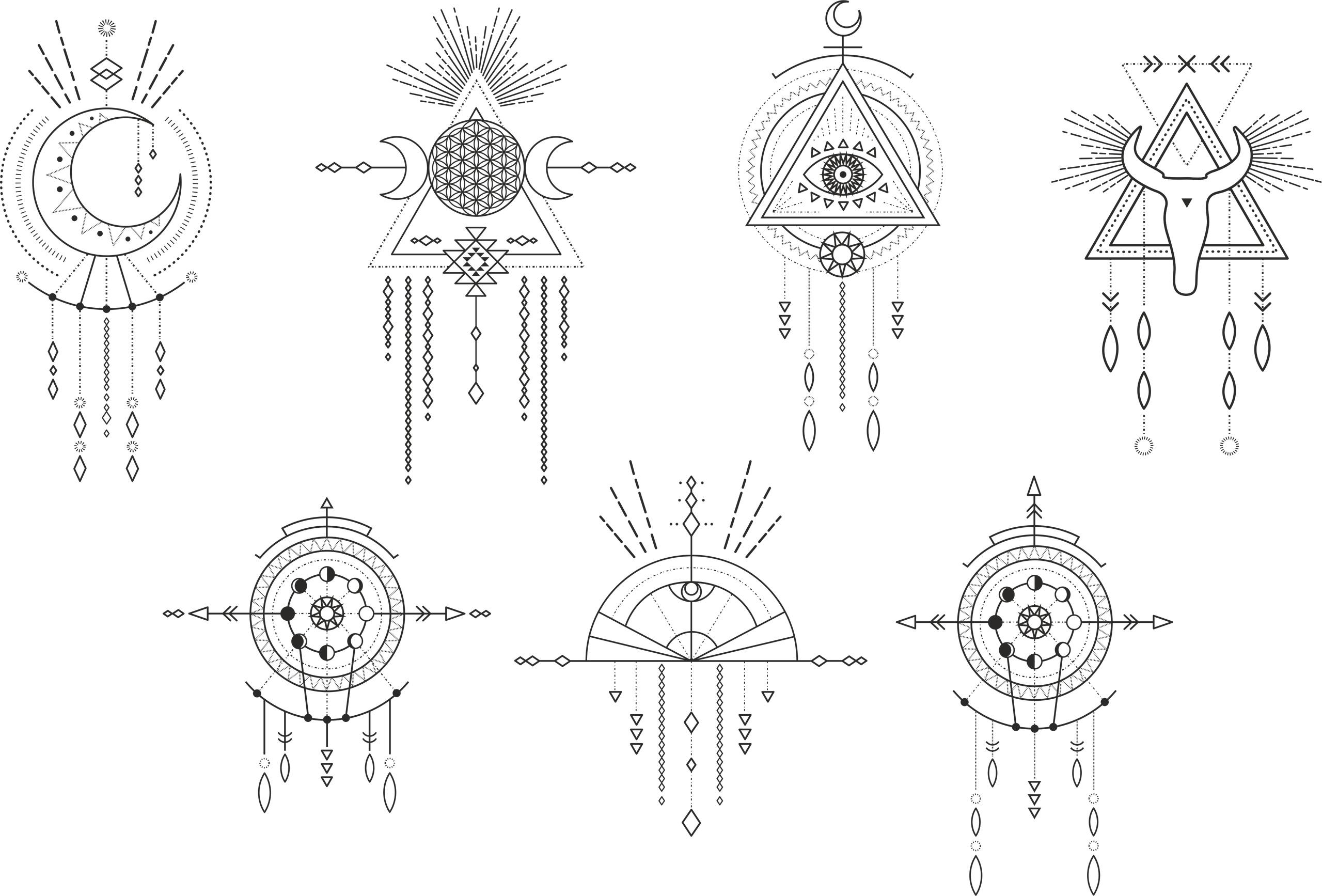 Shaman Mandalas Free Vector
