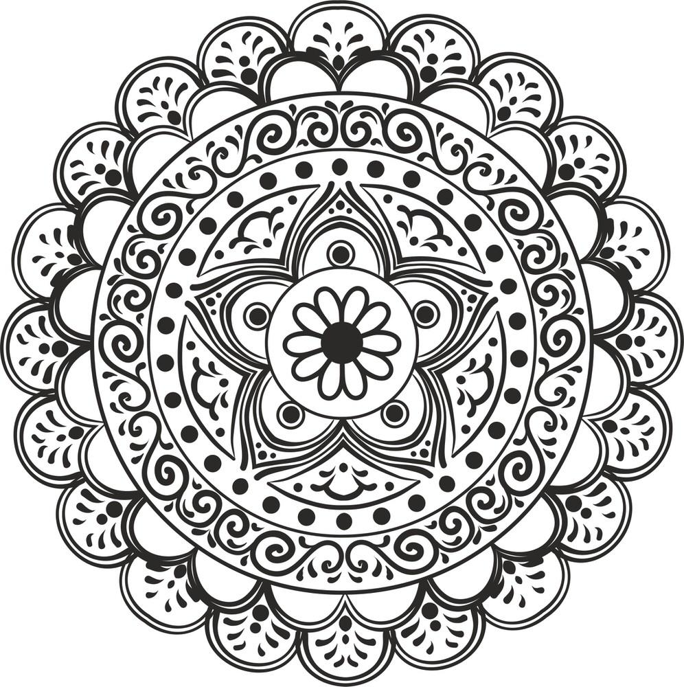 Mandala Star Free Vector