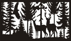 28 X 48 Eagle Doe Buck Deer Plasma Art DXF File