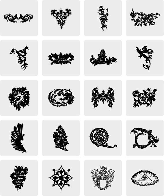 Heraldry Icon Vectors Free Vector