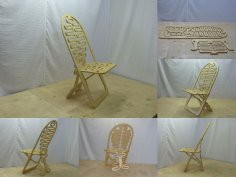 Fancy Plywood Chair DXF File