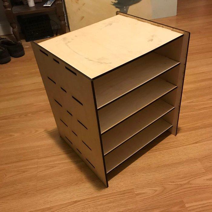 Laser Cut Furniture Shelf Free Vector