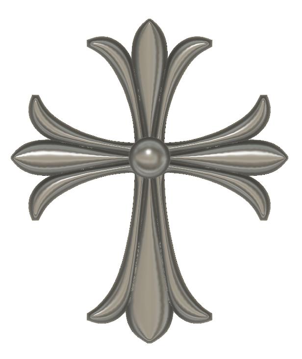 Cross STL Model for CNC Woodworking stl File
