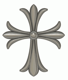 Cross STL Model for CNC Woodworking stl File