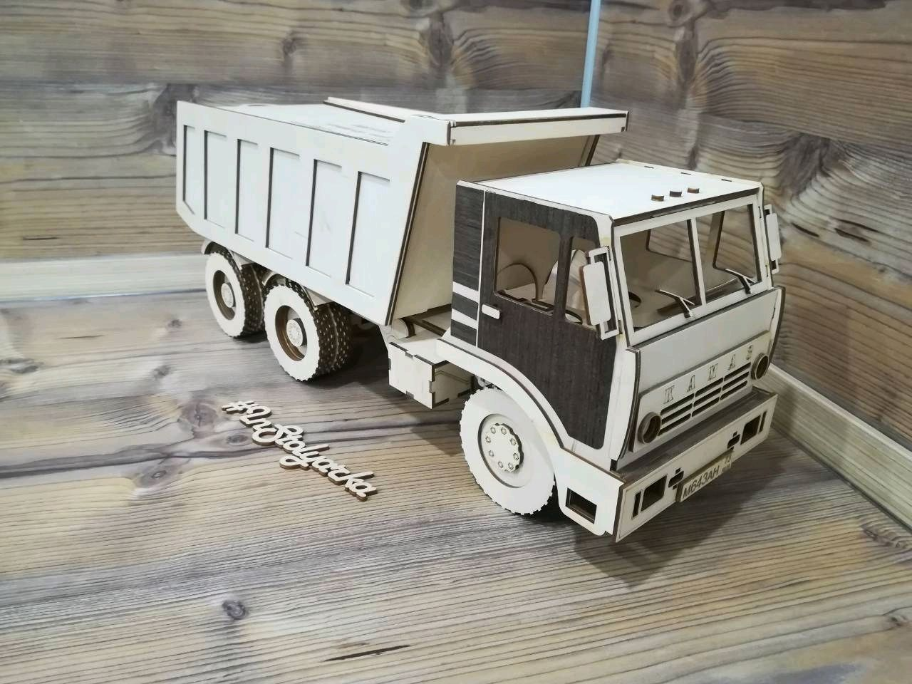 Laser Cut Kamaz Truck Template Free Vector