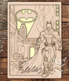 Laser Cut Dark Knight Batman Template Free Vector