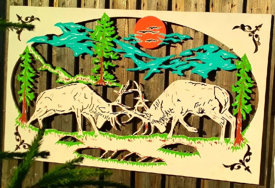 Laser Cut Scenery Wall Art DXF File
