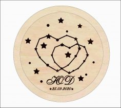 Laser Cut Personalized Wedding Ring Holder Wedding Ring Pillow Alternative Free Vector