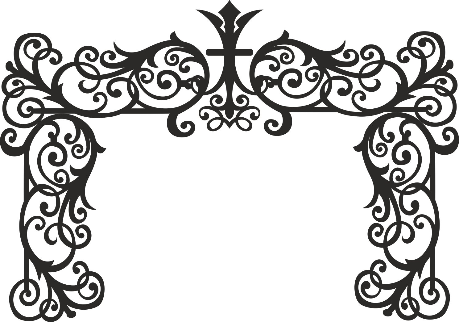 Laser Cut Wedding Event Stage Panel Free Vector