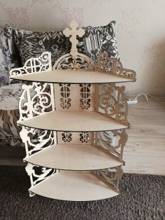 Laser Cut Altar Shelf Free Vector