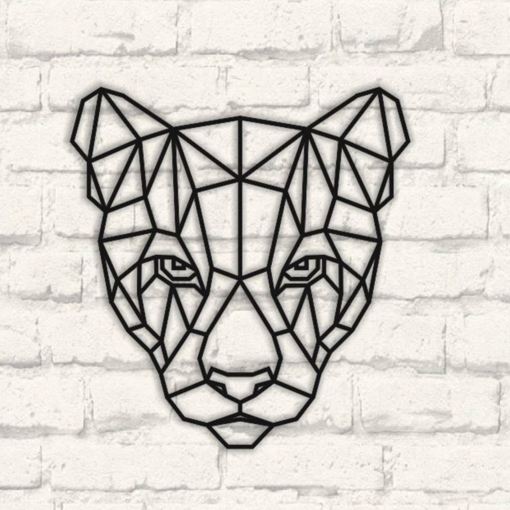 Laser Cut Puma Polygonal Wall Art Free Vector