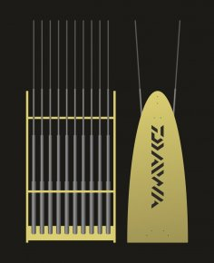 Laser Cut Fishing Pole Holder Free Vector