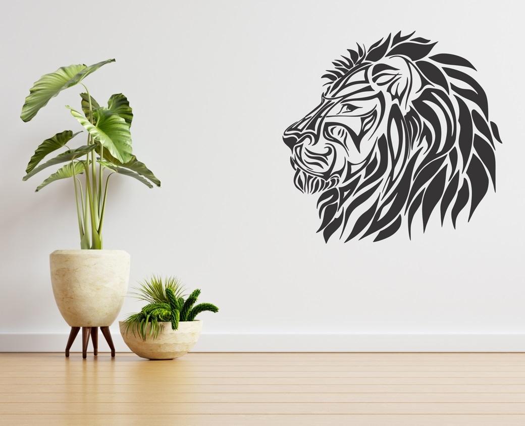 Laser Cut Lion Wall Decor Free Vector