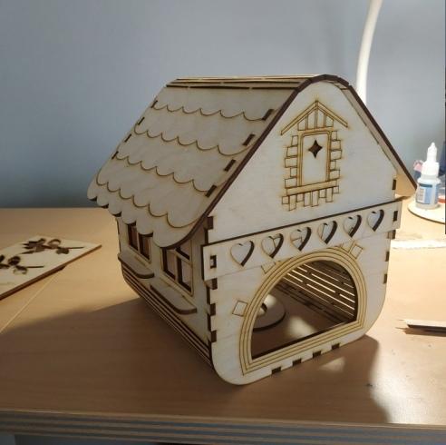 Laser Cut Wooden Bird Cage Decorative Bird House Free Vector