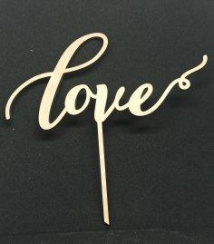 Laser Cut Love Cake Topper Valentine Cake Topper Free Vector