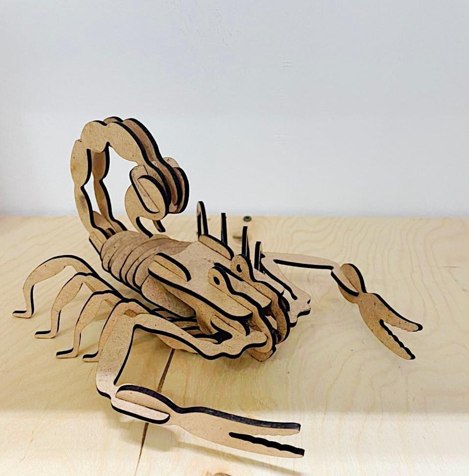 Laser Cut Scorpion 3D Puzzle DXF File