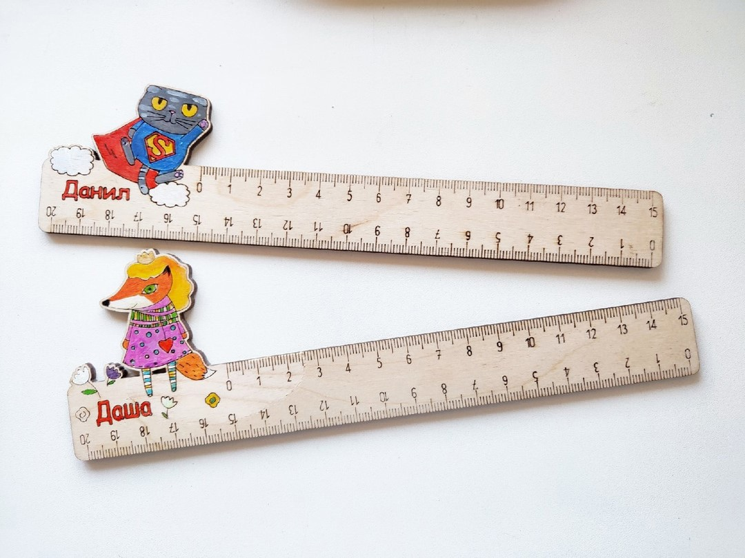 Laser Cut Personalized Kids Rulers Free Vector