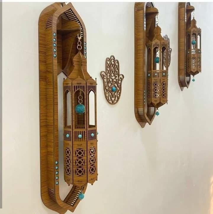 Laser Cut Decorative Wall Lamp Free Vector